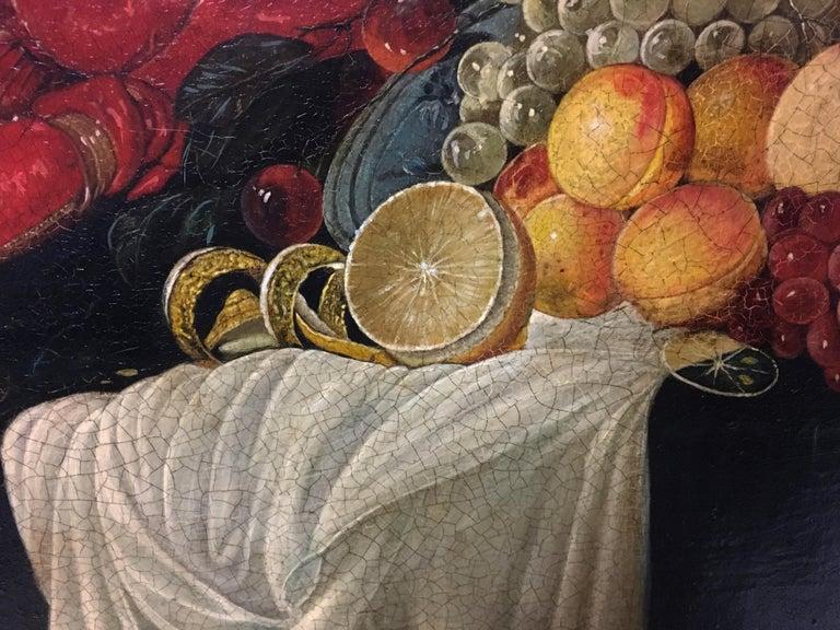STILL LIFE - Dutch School - Oil on Canvas Italian Painting For Sale 2