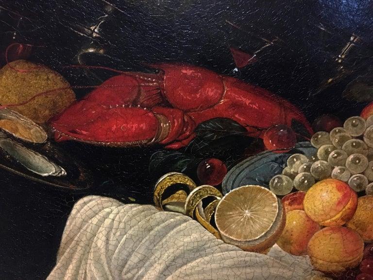STILL LIFE - Dutch School - Oil on Canvas Italian Painting For Sale 3