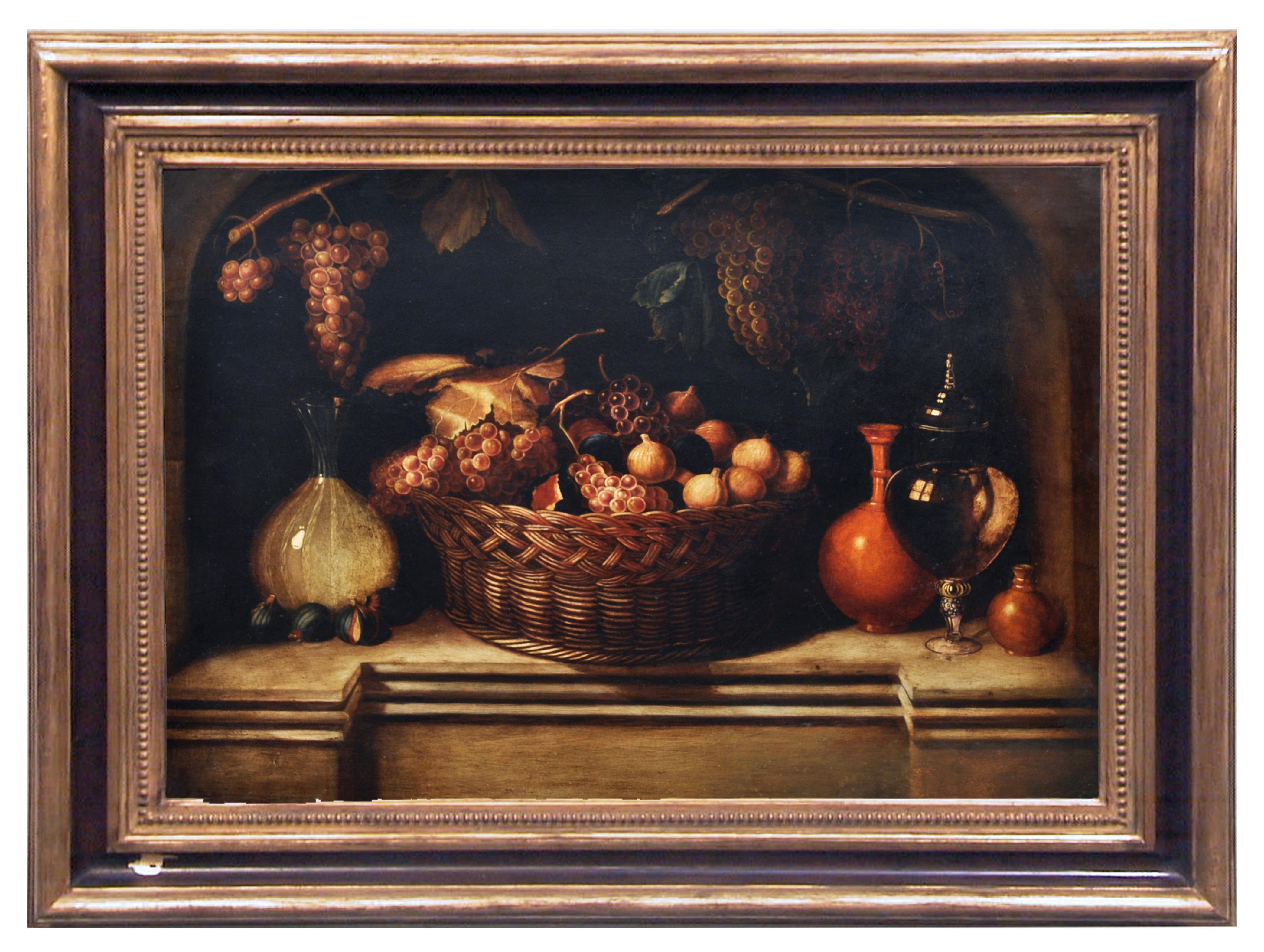 STILL LIFE -  Dutch School -Italian Oil on Canvas Painting