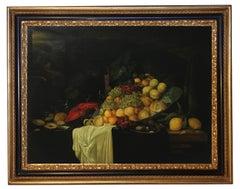 Still Life - Giovanni Perna Oil on Canvas Italian Painting