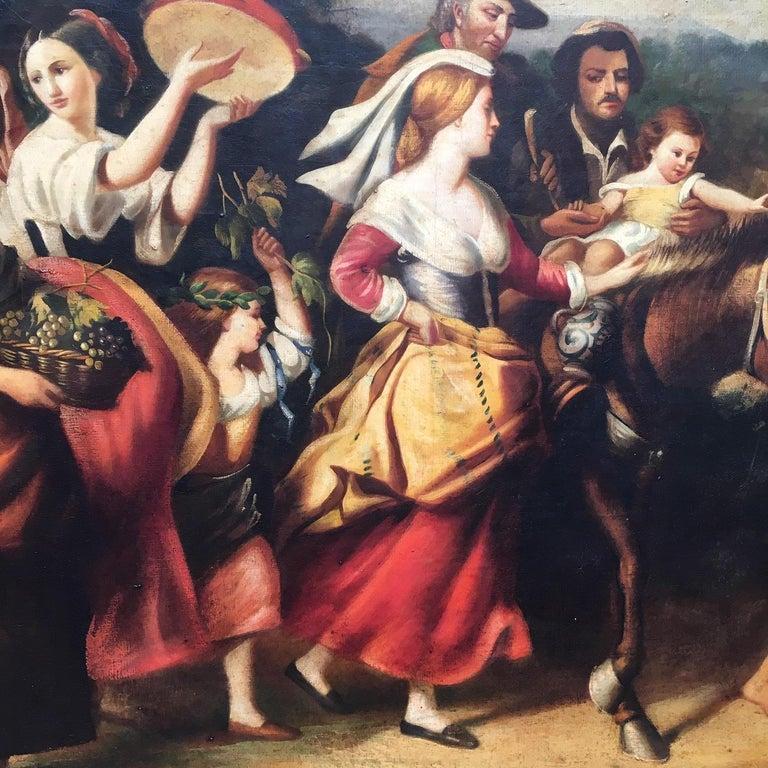 COUNTRY SCENE- Italian School - Figurative Italian Oil on Canvas  Painting For Sale 8