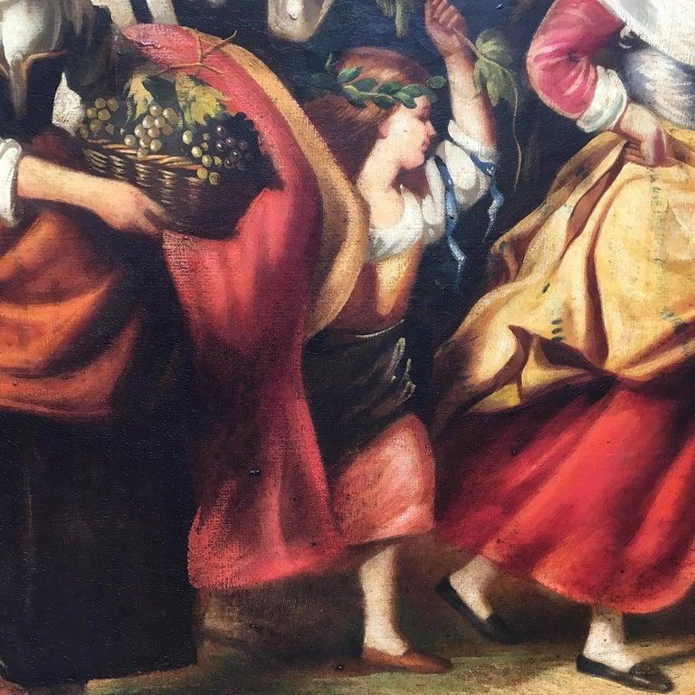 COUNTRY SCENE- Italian School - Figurative Italian Oil on Canvas  Painting For Sale 9