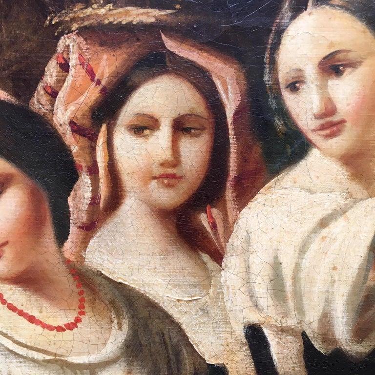 COUNTRY SCENE- Italian School - Figurative Italian Oil on Canvas  Painting For Sale 14