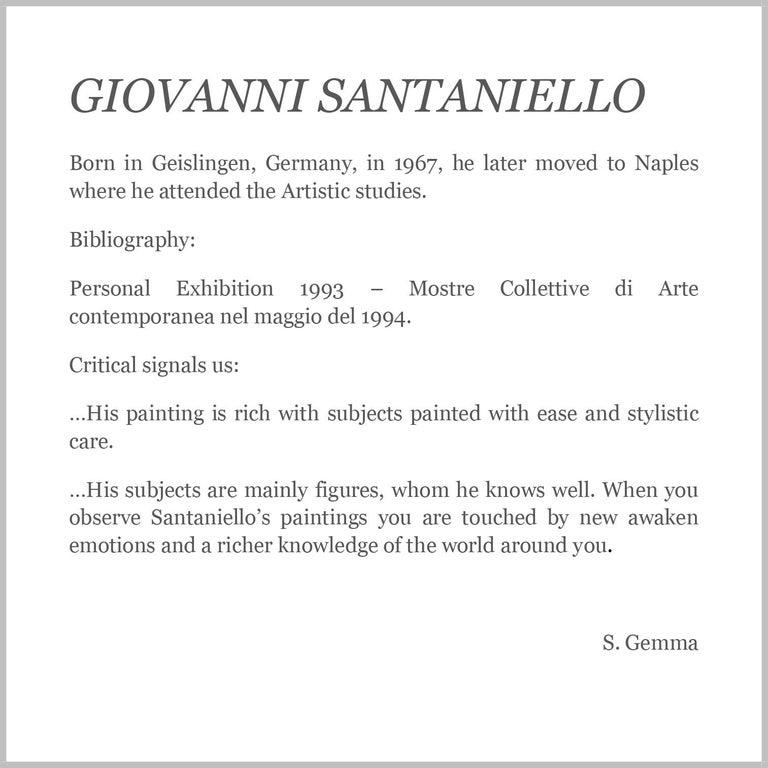 COUNTRY SCENE- Italian School - Figurative Italian Oil on Canvas  Painting For Sale 16