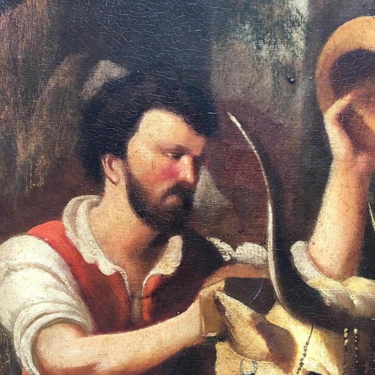 COUNTRY SCENE- Italian School - Figurative Italian Oil on Canvas  Painting For Sale 2
