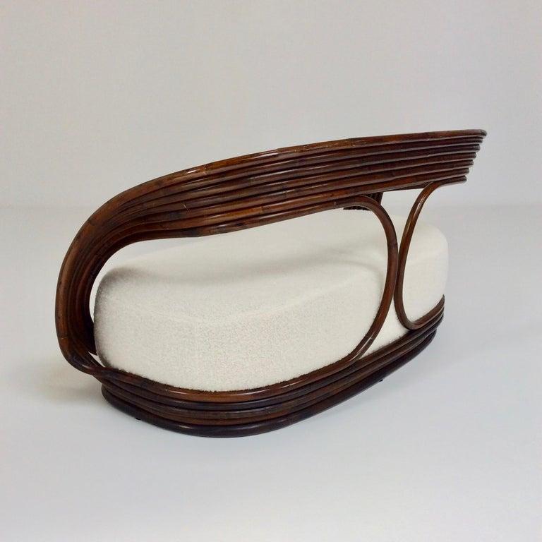 Giovanni Travasa Rare Bamboo Sofa for Bonacina, circa 1960, Italy For Sale 5