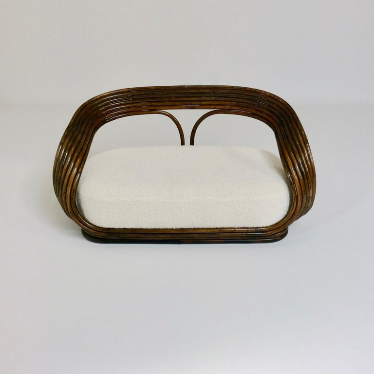 Giovanni Travasa Rare Bamboo Sofa for Bonacina, circa 1960, Italy For Sale 7
