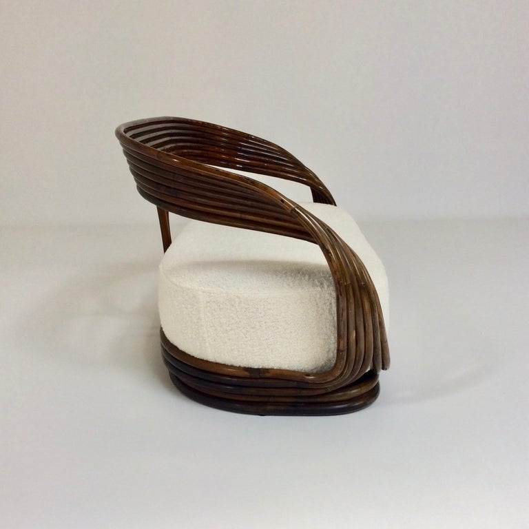 Mid-Century Modern Giovanni Travasa Rare Bamboo Sofa for Bonacina, circa 1960, Italy For Sale