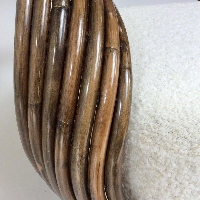 Italian Giovanni Travasa Rare Bamboo Sofa for Bonacina, circa 1960, Italy For Sale
