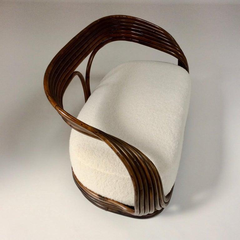 Giovanni Travasa Rare Bamboo Sofa for Bonacina, circa 1960, Italy In Good Condition For Sale In Brussels, BE