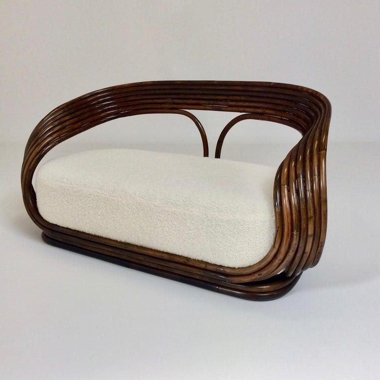 Mid-20th Century Giovanni Travasa Rare Bamboo Sofa for Bonacina, circa 1960, Italy For Sale