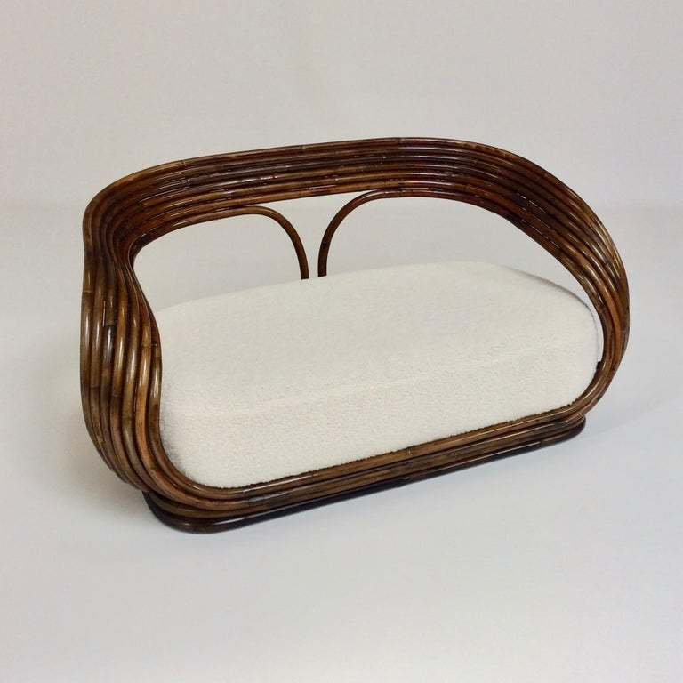 Giovanni Travasa Rare Bamboo Sofa for Bonacina, circa 1960, Italy For Sale 1