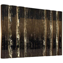 Giovannozzi Home, Partition Wall in Portoro Marble and Metal Brass Finish, Italy