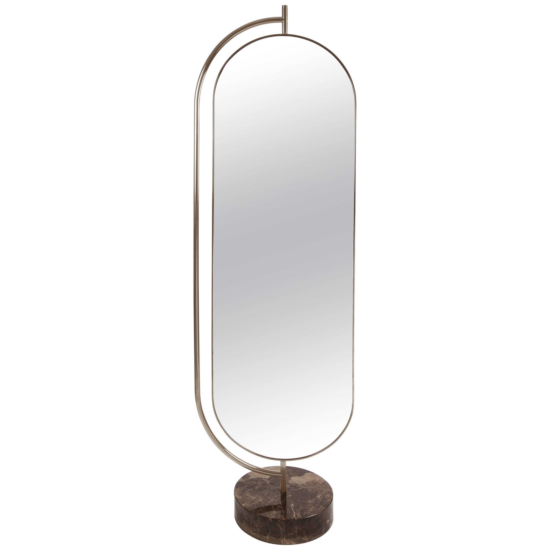 Full lenght mirror Modern Giove Full Length Mirror In Polished Marble Brass And Velvet Made In Italy 1stdibs Giove Full Length Mirror In Polished Marble Brass And Velvet Made