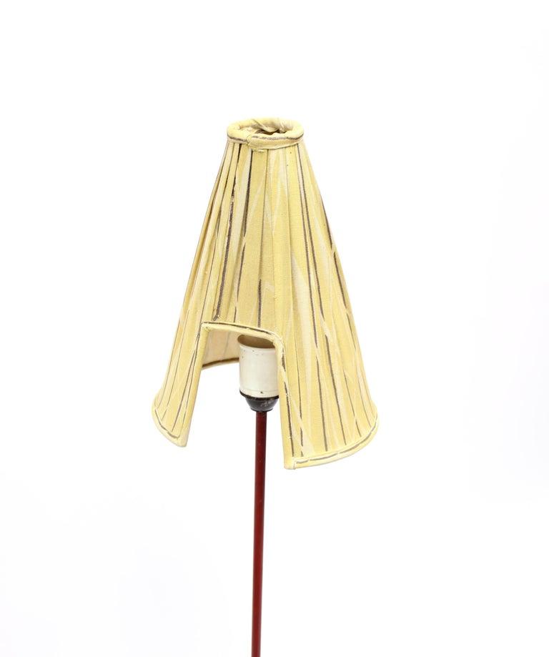 Fabric Giraffe Floor Lamp by Hans Bergström for Ateljé Lyktan, 1950s For Sale