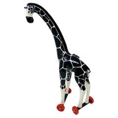Giraffe on Wheels Sculpture by Andree Richmond