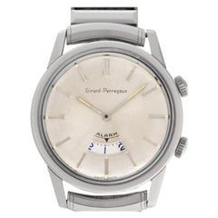 Girard Perragaux Alarm 1475, Silver Dial, Certified and Warranty