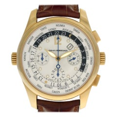 Girard Perragaux World Time 49805, White Dial, Certified and Warranty
