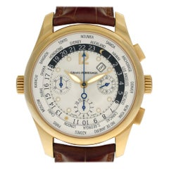 Girard Perragaux World Time 49805, White Dial, Certified