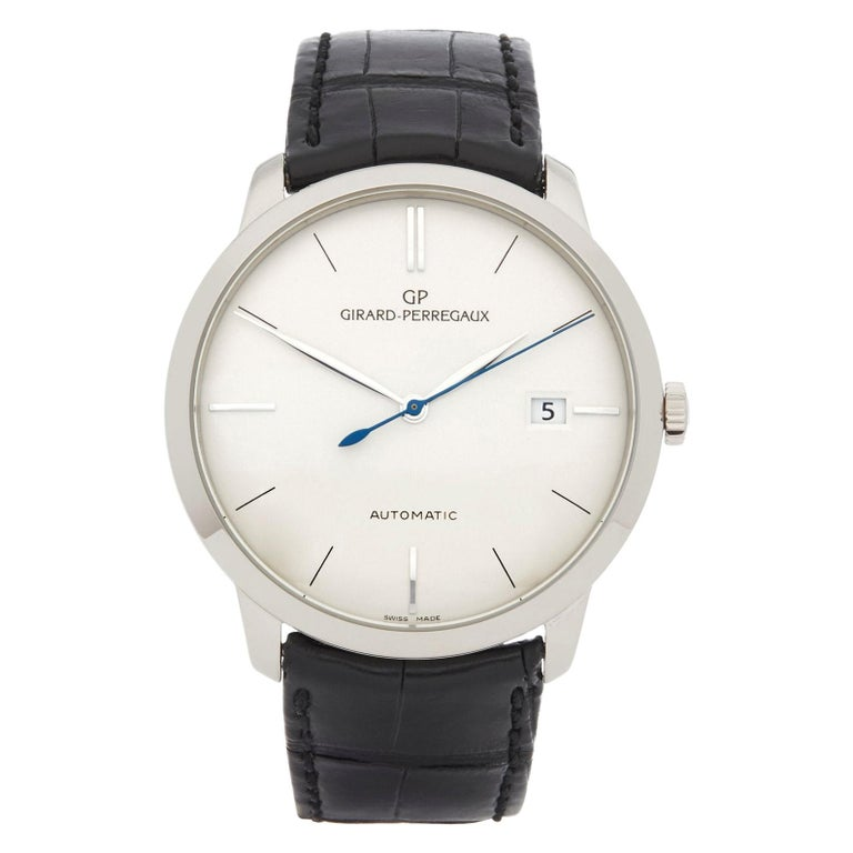 Girard Perregaux 1966 18 Karat White Gold 4952553131BK6A For Sale