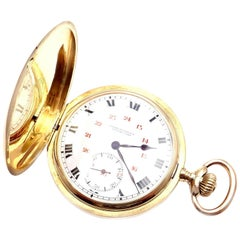 Girard Perregaux Large Hunter Case Yellow Gold Pocket Watch