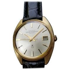 GIRARD PERREGAUX Men's 18K Solid Gold Gyromatic w/Date Dress Watch c.1960s MS194