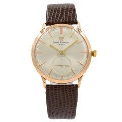 Girard-Perregaux Silver Sticks Dial 18 Karat Gold Hand Wind Vintage Men's Watch