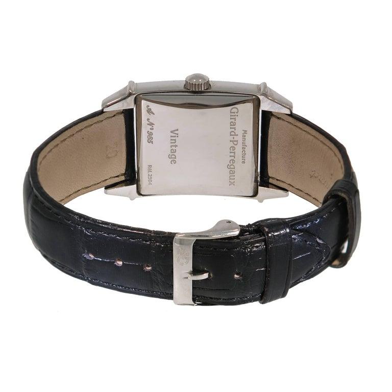 Modern Girard-Perregaux Stainless Steel Vintage 1945 self-winding Wristwatch  For Sale