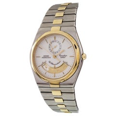 Girard Perregaux Two-Tone Equation Soleil Watch with Zodiac Dial 42664 Gold & SS