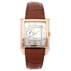 Girard Perregaux Vintage 1945 Automatic Silver Dial 18kt Pink Gold Men's Watch