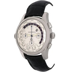 Girard Perregaux White Gold World Time Chronograph GMT Automatic Wristwatch