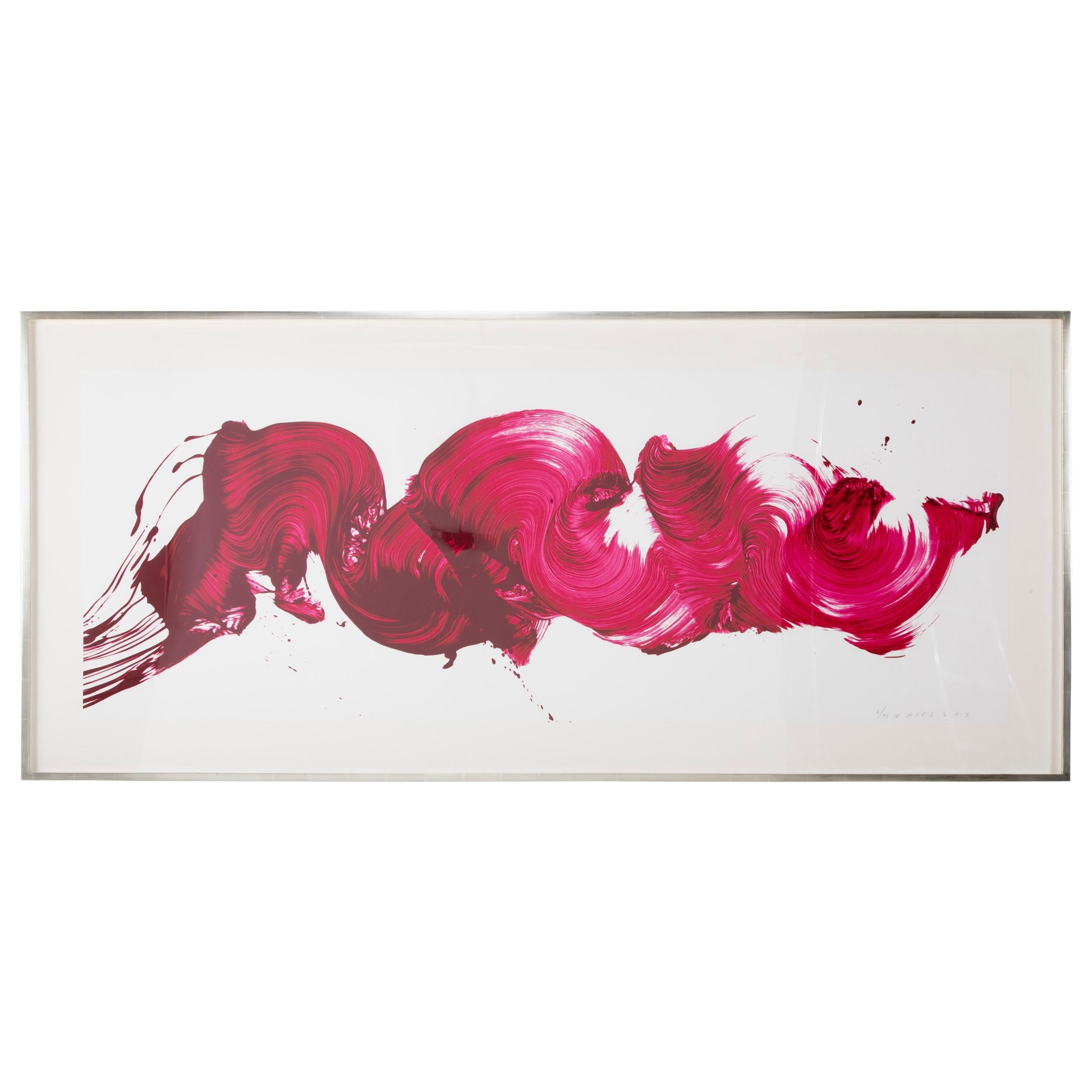 """""""Girl about Town"""" Signed, Dated and Numbered Screen Print by James Nares"""