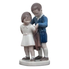 Girl with Boy Figurine from Bing & Grondhal, 1970-1983