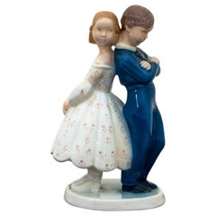 Girl with Boy Figurine from Bing & Grøndahl, 1970