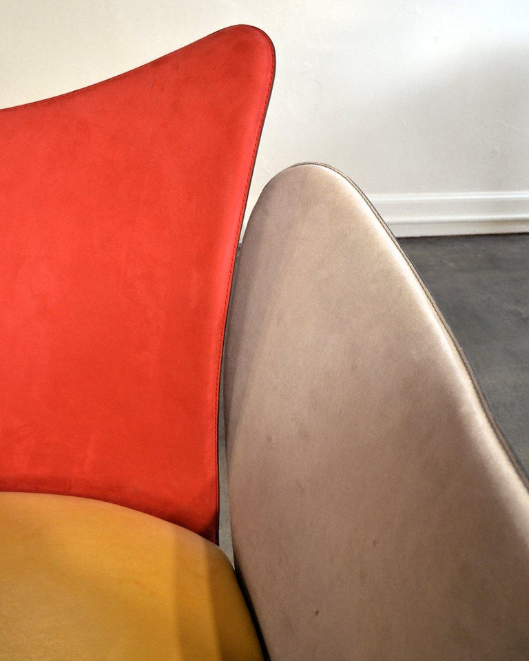 Giorgio Saporiti Post-Modern Suede Flower Chair by Il Loft For Sale 2