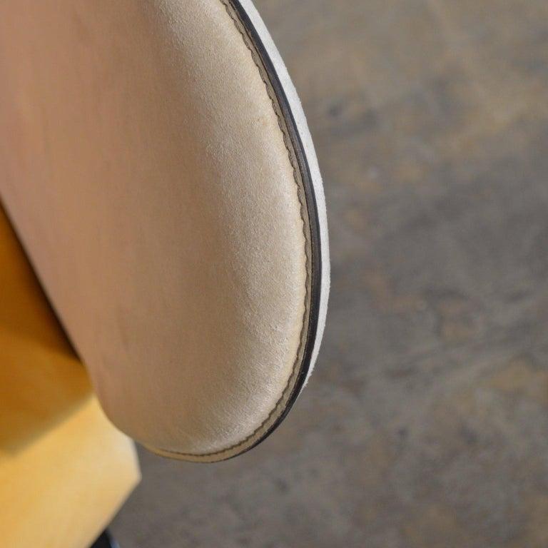 Giorgio Saporiti Post-Modern Suede Flower Chair by Il Loft For Sale 3