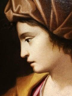 G Negri called Il Boccia Baroque Figurative Painting 17th century oil canvas