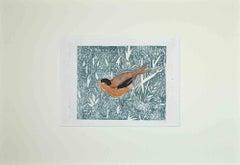Bird - Original Woodcut Print by Giselle Halff - Mid-20th Century