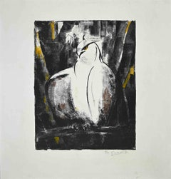 Falcon - Original Lithograph by Giselle Halff - 1965