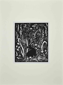 The Rabbit - Original Woodcut by Giselle Hallf - Early 20th Century