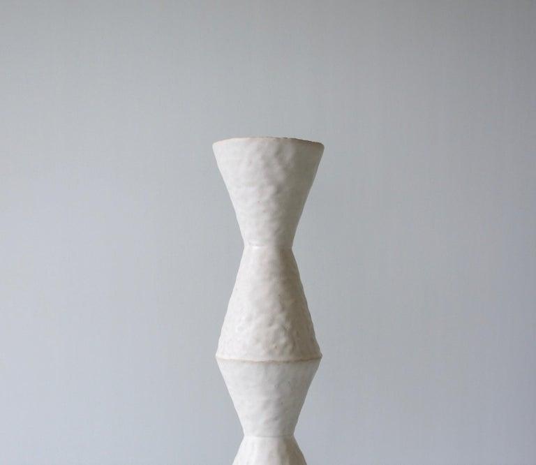 Organic Modern Giselle Hicks Contemporary White Ceramic Vase, 2019 For Sale