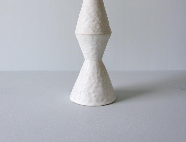 American Giselle Hicks Contemporary White Ceramic Vase, 2019 For Sale