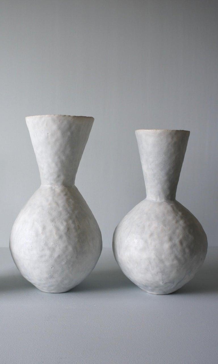 Glazed Giselle Hicks Contemporary Pale Grey Ceramic Vase, 2019 For Sale