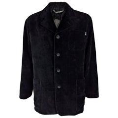 Gisnfranco Ferre Mens Vintage Black Velvet Four Button Jacket