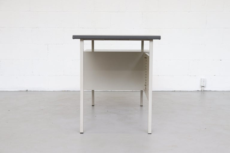 Mid-Century Modern Gispen 3803 Industrial Desk with Privacy Screen For Sale