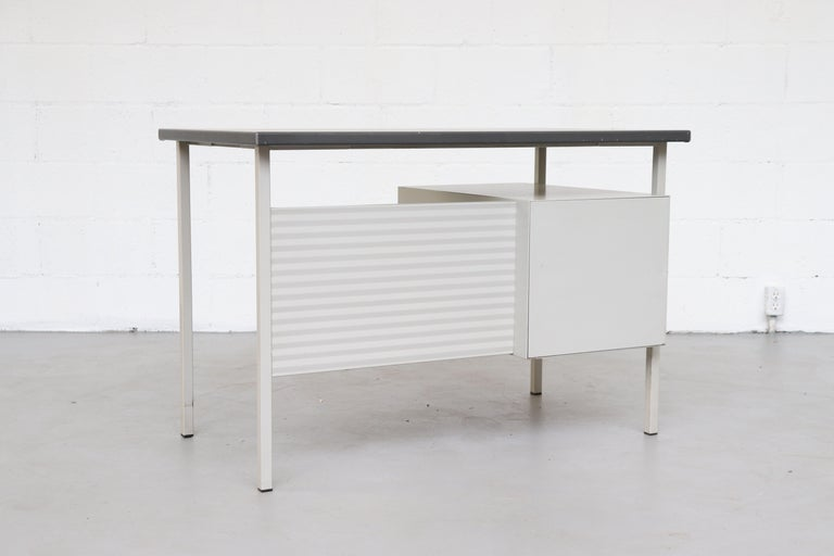 Dutch Gispen 3803 Industrial Desk with Privacy Screen For Sale