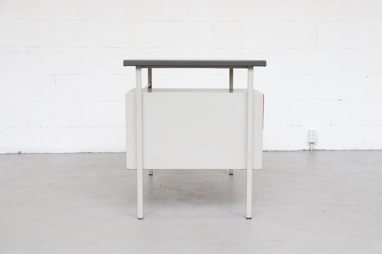 Mid-20th Century Gispen 3803 Industrial Desk with Privacy Screen For Sale