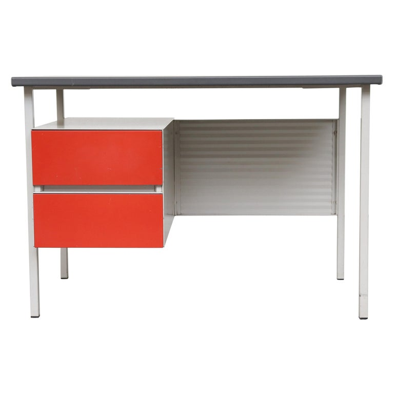 Gispen 3803 Industrial Desk with Privacy Screen For Sale