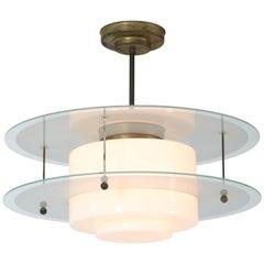 Gispen Giso Art Deco Pendant Lamp by W.H. Gispen, 1931