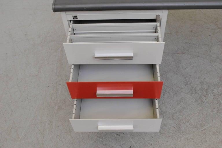 Mid-20th Century Gispen Industrial Metal Desk For Sale